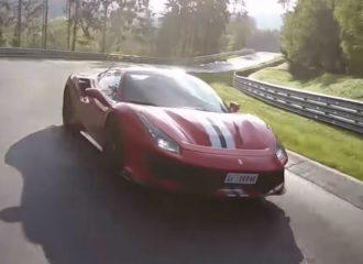 Η Ferrari 488 Pista «επιτίθεται» στο 'Ring (+video)