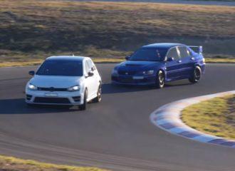 Μπορεί το VW Golf R να σταθεί δίπλα στο Mitsubishi Evo 9; (+video)