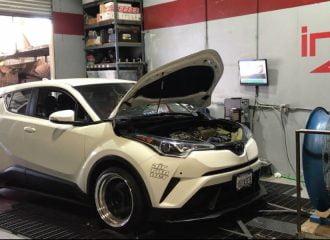 Βελτιωμένο Toyota C-HR 1.2T στο δυναμόμετρο (+video)