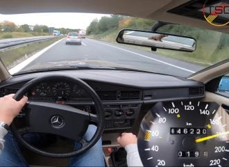 Mercedes 190 E 2.3 με το γκάζι στο πάτωμα! (+video)
