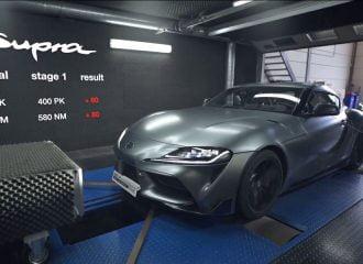 Στο δυναμόμετρο Toyota Supra 400 ίππων (+video)