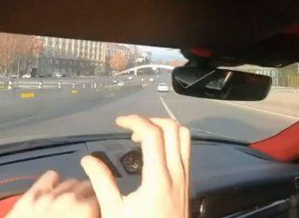 Οδηγός Porsche κάνει ποδαρικό με «σώσιμο» (+video)