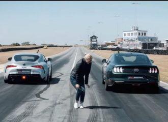 H Toyota Supra «διαλύει» τη Ford Mustang Bullitt (+video)