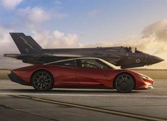 Κόντρα McLaren Speedtail με μαχητικό F35 Lightning II!