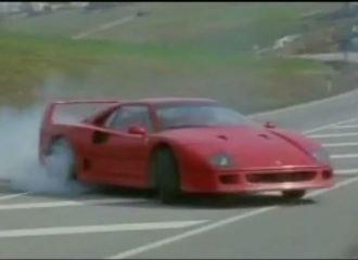Όταν η Ferrari F40 έκαιγε τα ελαστικά της (+video)