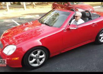 Οδηγός Mercedes SLK ετών 107! (+video)