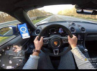 Porsche 718 Boxster Spyder στα 306 χλμ./ώρα (+video)