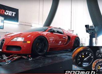 Πόσα άλογα βγάζει η Bugatti Veyron στο δυναμόμετρο;