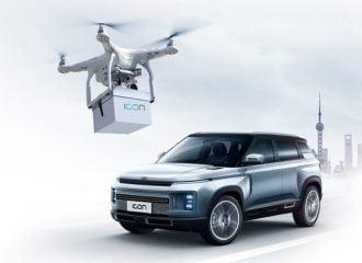 H Geely παραδίδει τα κλειδιά του αυτοκινήτου με drone!