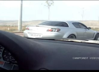Mazda RX-8 «ξυρίζει» BMW 328i (+video)