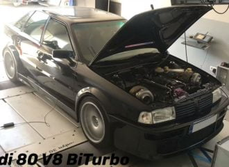 Ελληνικό Audi 80 1.000+ ίππων! (+video)