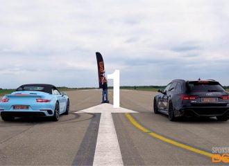 Audi RS 6 τρώει πολύ σκόνη από Porsche 911 Turbo S