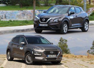 Nissan Juke 1.0 DIG-T vs Hyundai Kona 1.0 T-GDi