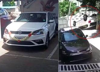 Παρέλαβε νέο VW Polo και το τούμπαρε! (+video)