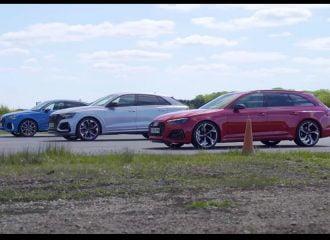 «Εμφύλιος» μεταξύ των Audi RS (+video)