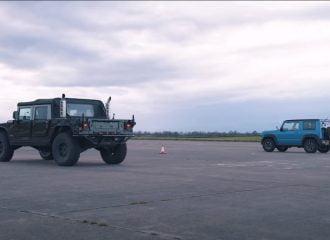 Το Suzuki Jimny «βομβάρδισε» το Hummer! (+video)