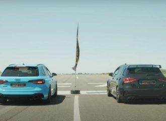 Mercedes-AMG A45 S «ξεραίνει» το Audi RS 4 (+video)