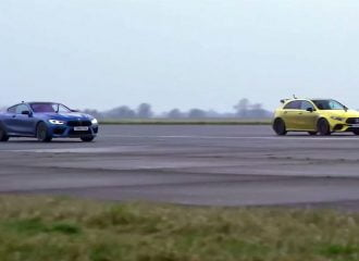 Χαμός μεταξύ BMW M8 και Mercedes A45 S (+video)
