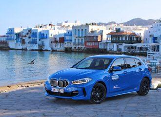 Με τη νέα BMW Σειρά 1 στη Μύκονο
