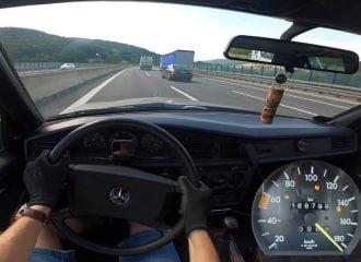 Αγέρωχη Mercedes 190 D του 1988 τερματίζει (+video)