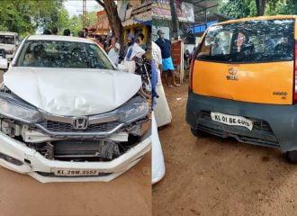 Tata Nano «διέλυσε» δύο Honda (+video)