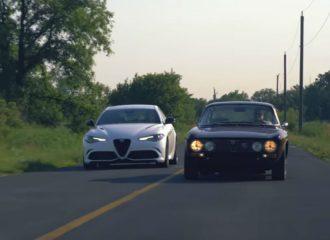 Η Alfa Romeo Giulia QV συναντά την 2000 GTV (+video)