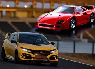 Ταχύτερο από Ferrari F40 το Honda Civic Type R!