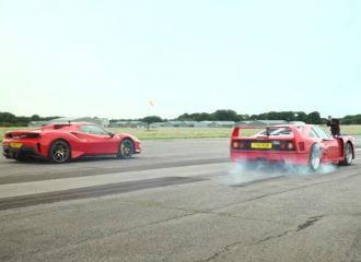 Η Ferrari 488 Pista συναντά την F40 (+video)
