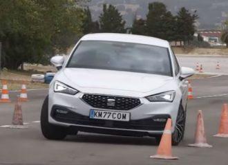 «Δάγκωσε» ο τάρανδος το νέο SEAT Leon (+video)