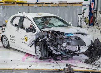 Ποδαρικό του νέου Toyota Yaris στο Euro NCAP