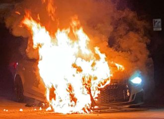 Audi RS 3 1.100 ίππων κάηκε σε κόντρα (+video)
