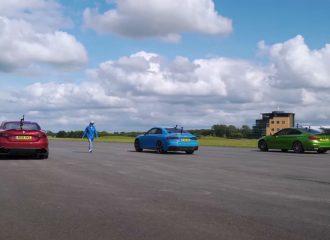 Giulia QV vs RS 5 vs M4 με ανατροπές (+video)
