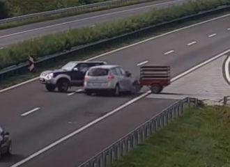 Nissan Navara στρίβει ανάποδα σε εθνική! (+video)