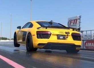 Σούζες με διτούρμπινο Audi R8 3.000 ίππων (+video)