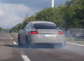 Audi TT RS 800 ίππων γίνεται «καπνός» (+video)