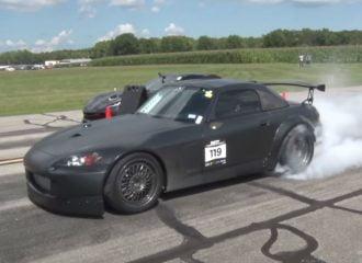 «1000άρι» S2000 πιάνει 321 χλμ./ώρα σε 800 μέτρα!