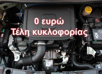 Το φθηνότερο αυτοκίνητο με 0€ τέλη κυκλοφορίας