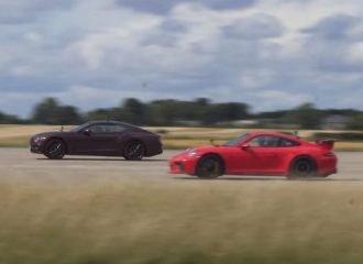 Η Bentley Continental «ιδρώνει» την 911 GT3 (+video)