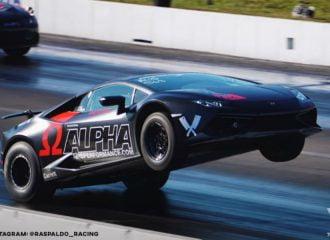 «Όρθια» Lamborghini Huracan 1.800 ίππων (+video)