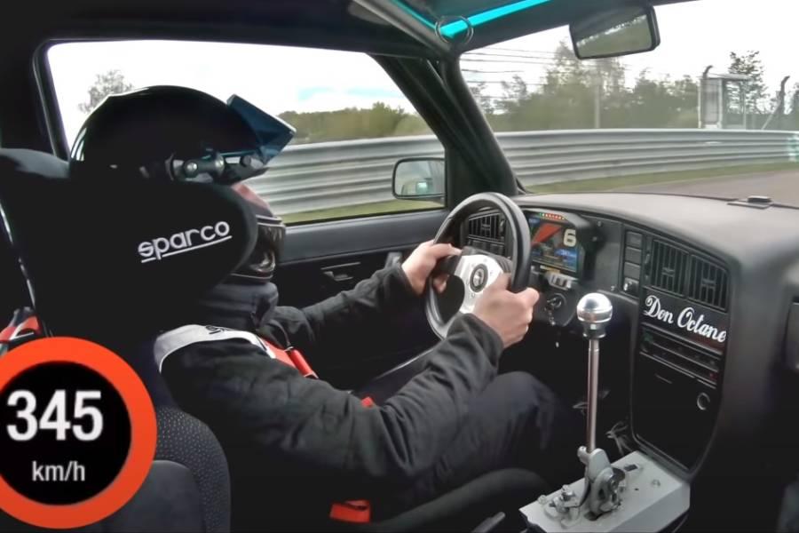 0-345 χλμ./ώρα με VW Golf MK2 1.375HP(+video)