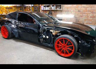 Πληγωμένη Ferrari GTC4 Lusso έγινε «κούτα» (video)