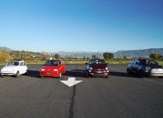 Κόντρα με όλες τις γενιές των Fiat 500 (+video)