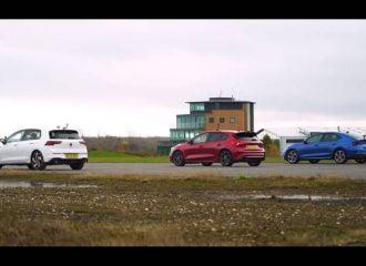 Focus ST vs Golf GTI vs Octavia RS με ανατροπές