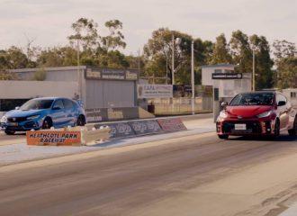 Civic Type R μετράει καρότσες από GR Yaris (+video)