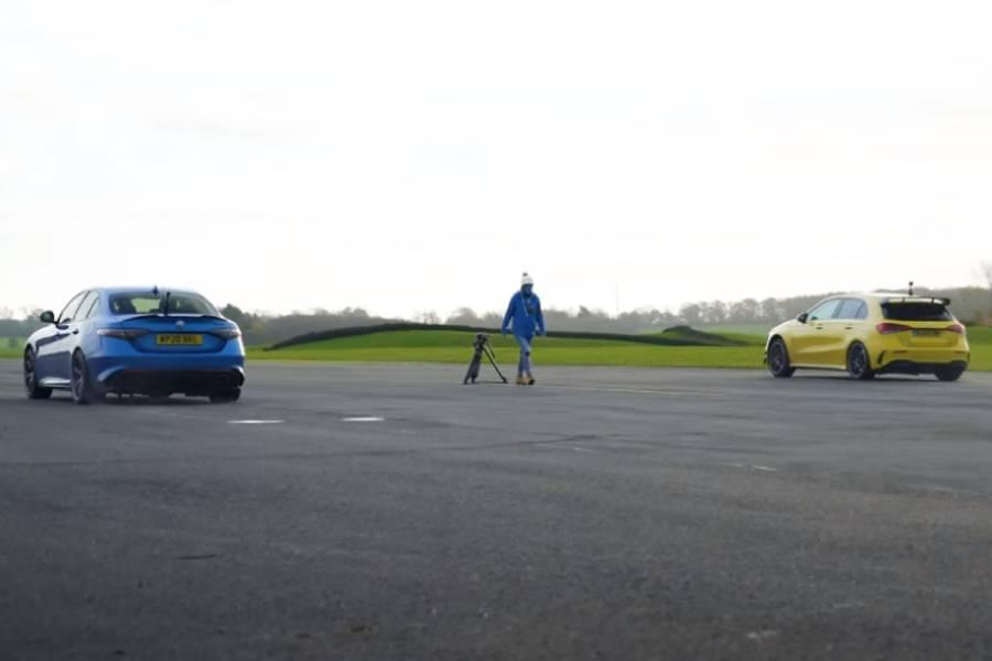 Η A45 S φορτώνει καρότσες την Giulia QV (+video)