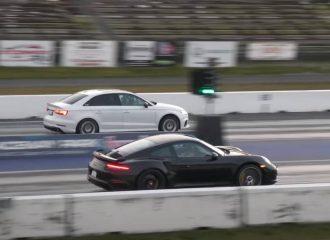 Audi RS 3 σοκάρει Porsche 911 Turbo S (+video)