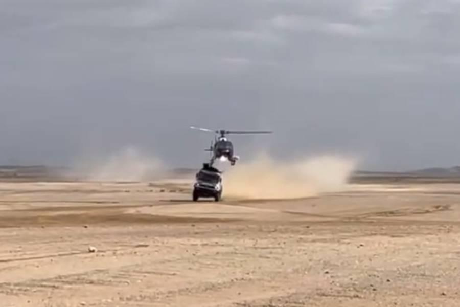 Φορτηγό τράκαρε με ελικόπτερο! (+video)