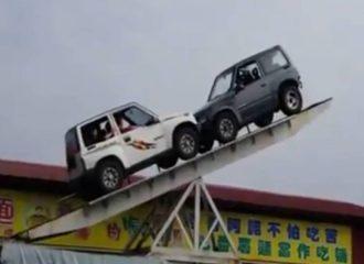 Ασύλληπτη ισορροπία από Suzuki Vitara (+video)