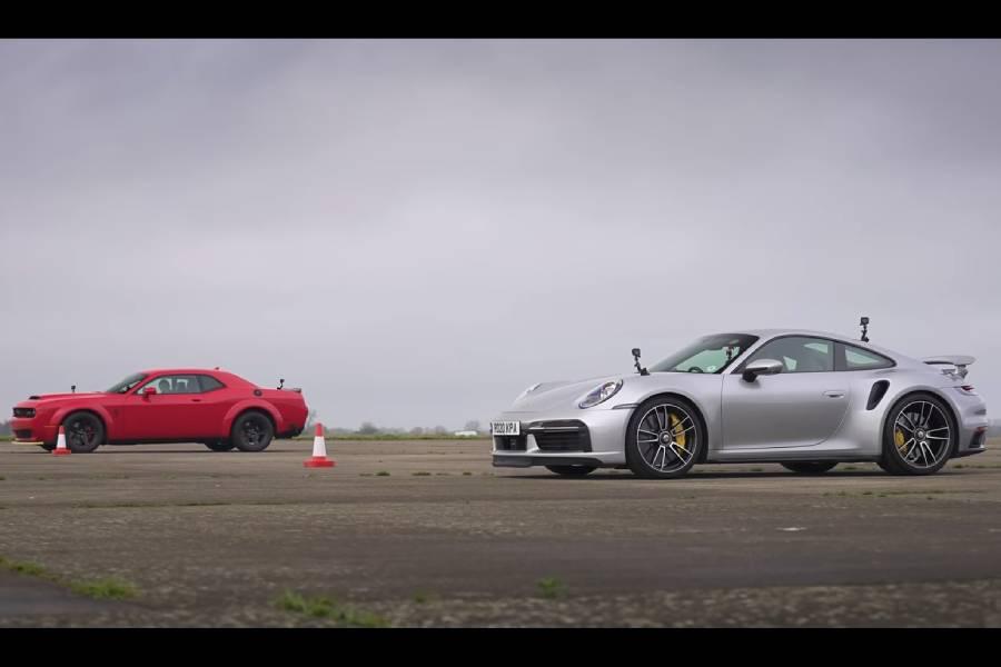 Ντέρμπι μεγατόνων: Demon vs 911 Turbo S (+video)