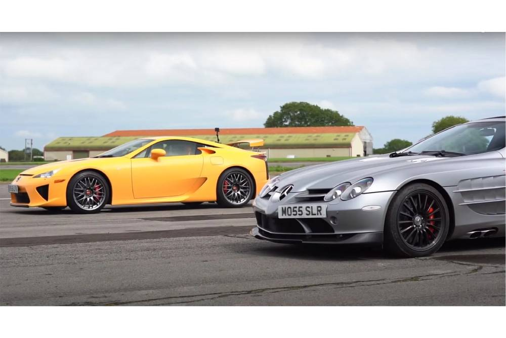 Κόντρα παλαιάς κοπής με Lexus LFA και Mercedes SLR